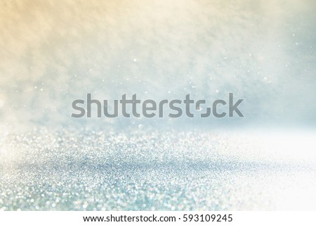 glitter vintage lights background. silver and blue. de-focused #593109245