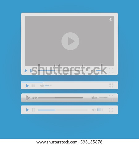 Video Player for your site white with progress bar #593135678