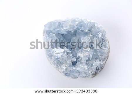 blue crystal Celestite (Celestine )  #593403380