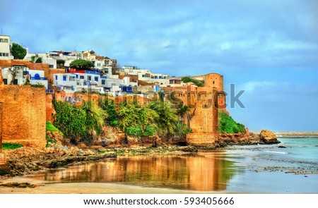 Kasbah of the Udayas in Rabat, the capital of Morocco #593405666