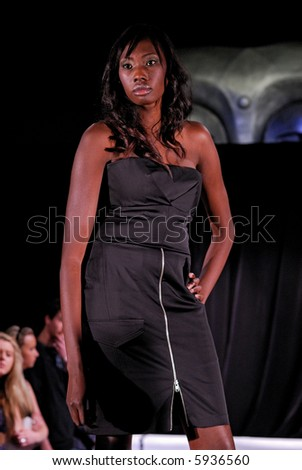 Female model at fashion show #5936560