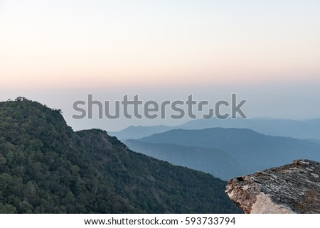 Khao Pra Mae Ya , mountain at the Khao Luang in Ramkhamhaeng National Park , Sukhothai , Thailand #593733794