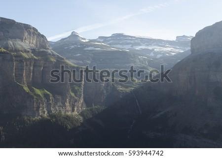 Mountains at Ordesa y Monte Perdido National Park, Spain #593944742