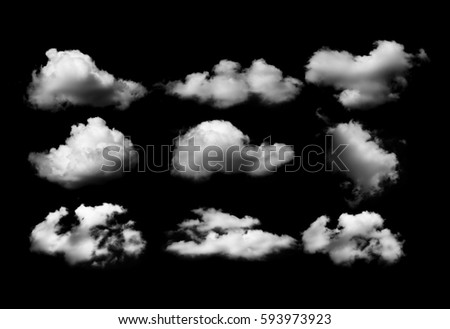 Clouds on black background #593973923