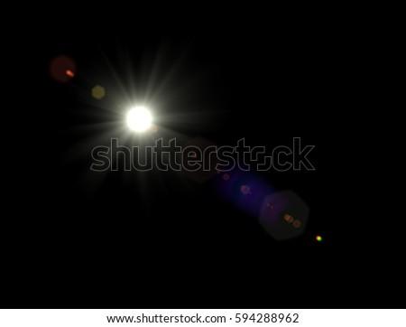 Lens flare light #594288962
