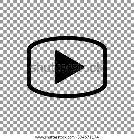 play icon flat . #594671174