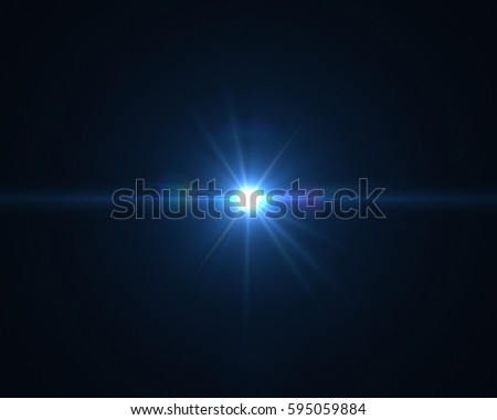 Realistic digital lens flare in black background #595059884