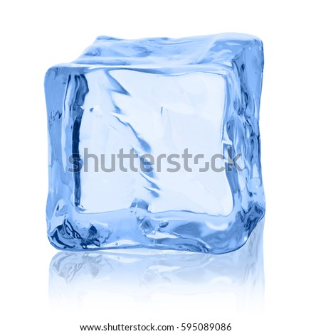 Cubes of ice on a white background. #595089086