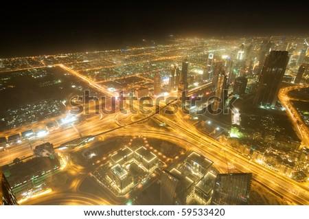 Panorama of down town Dubai city - UAE #59533420
