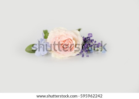 Lovely boutonniere on white background  #595962242