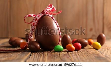 chocolate egg Royalty-Free Stock Photo #596276111