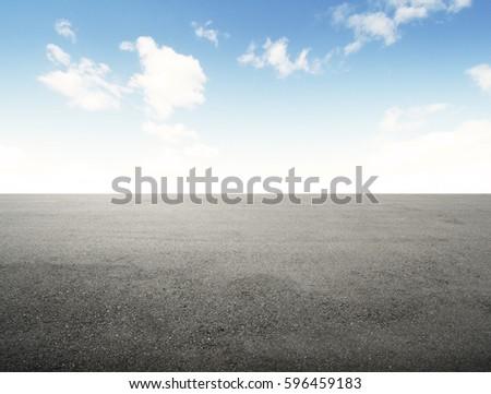 new asphalt road and blue sky #596459183