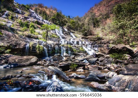 MaeYa Waterfall in Doi Inthanon National Park, Chiangmai, Thailand #596645036