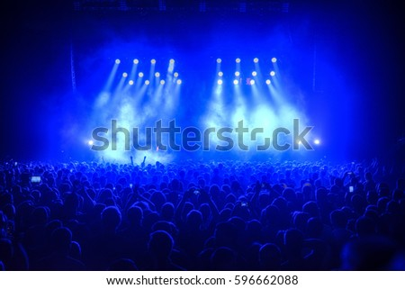 People at the concert are waiting for the show #596662088