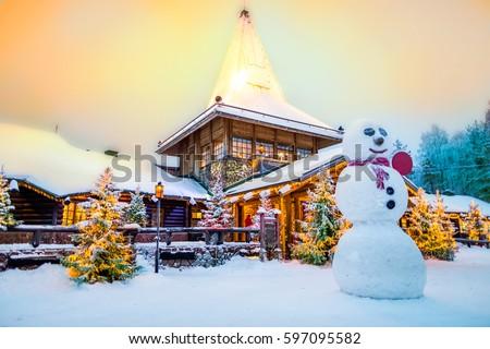 Santa claus village lapland finland #597095582