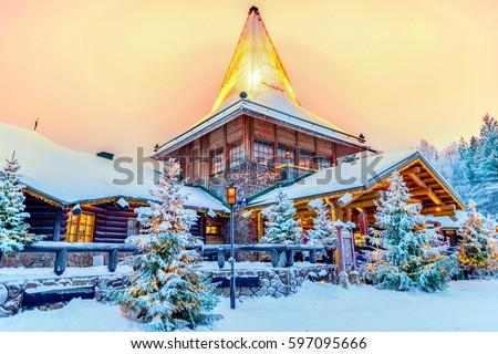 Santa claus village lapland finland #597095666