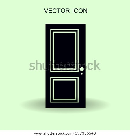 closed door vector illustration #597336548