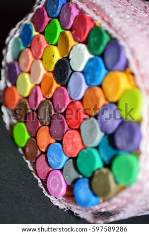Rainbow crayons #597589286