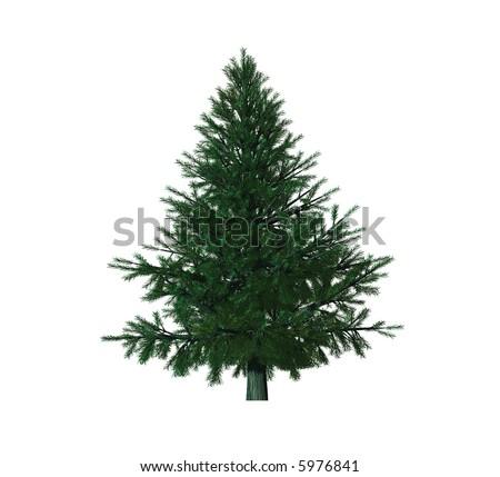 christmas tree isolated on white background #5976841