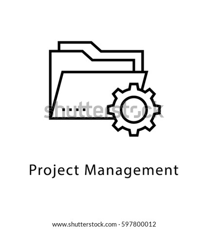 Project Management Vector Line Icon