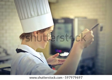 Young cook at work  #597979697
