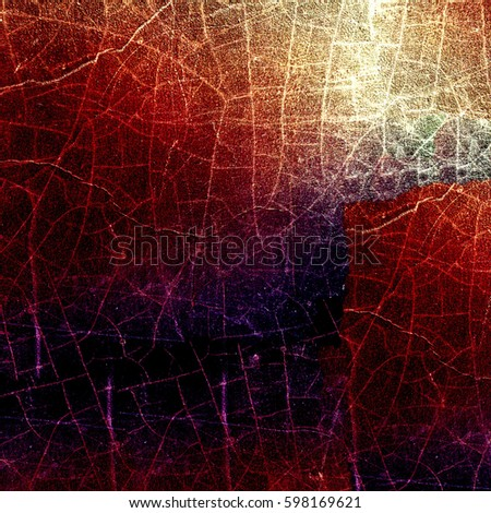 Grunge multicolor texture with cracks #598169621