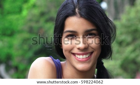 Person Smiling And Happy #598224062