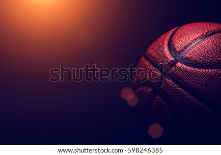basketball ball on black background.