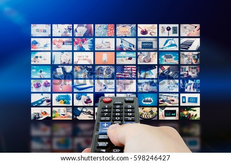 Multimedia video wall television broadcast. multimedia wall television video broadcast advertising background broadcasting concept #598246427