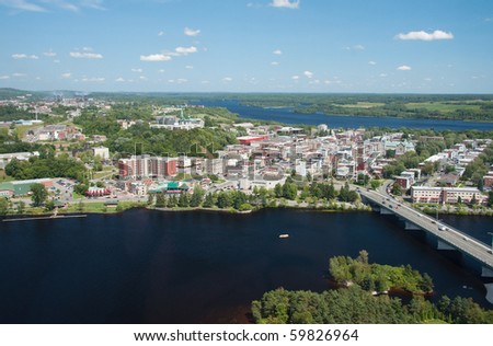 Aerial view of the city of Shawinigan in the Mauricie region of Quebec #59826964