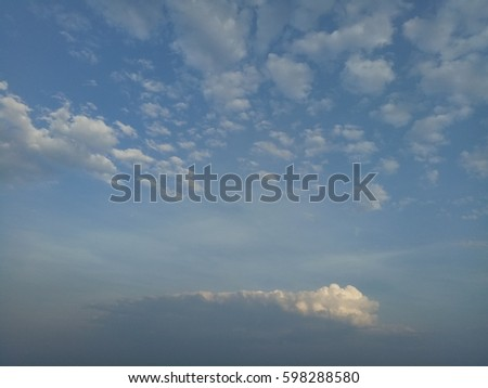Beautiful sky with clouds #598288580