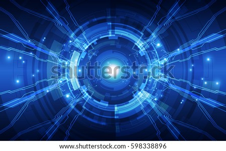 Abstract digital technology concept. vector background #598338896