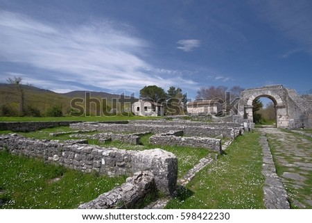Saepinum, ancient ruins in Italy #598422230