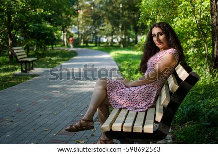 Portrait of young beautiful woman #598692563