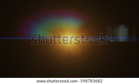 abstract of lighting digital lens flare in dark background #598783682
