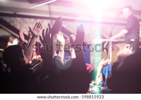 People at a party in nightclub #598815923