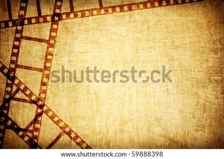 vintage scratch background with film frame