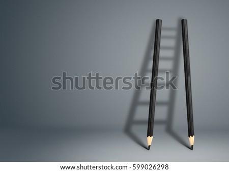success creative concept, pencil Ladder #599026298