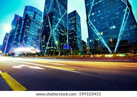 Modern urban traffic at night #599103455