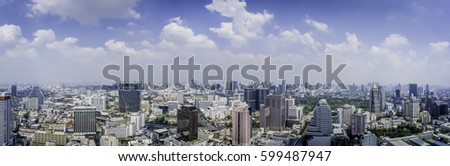 Panorama of Bangkok City #599487947
