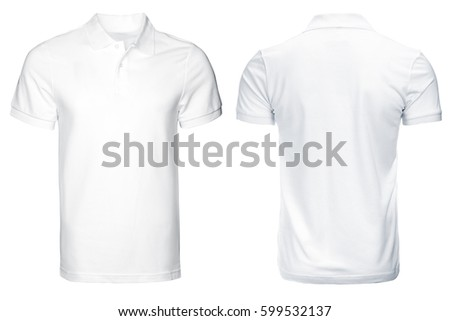 white Polo shirt, clothes on isolated white background. #599532137