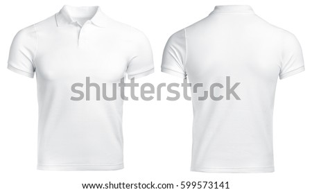 white Polo shirt, clothes on isolated white background #599573141