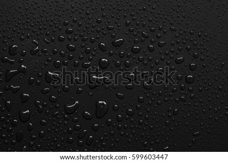 abstract water drops on a white background Royalty-Free Stock Photo #599603447