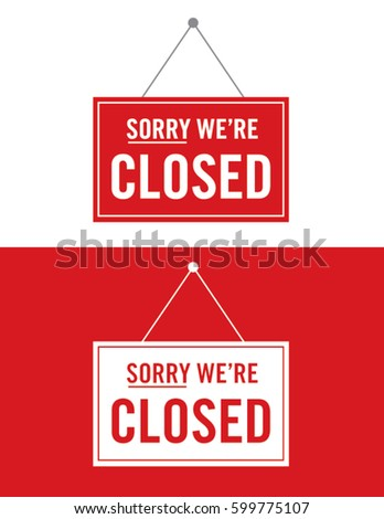 Vector Closed Sign Set #599775107