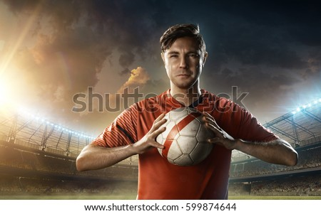 soccer player in red uniform #599874644