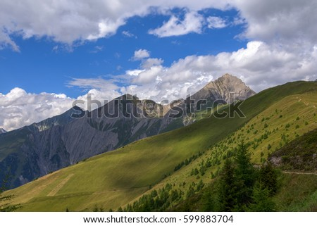 Summer landscape of Alps, Tirol, Austria #599883704