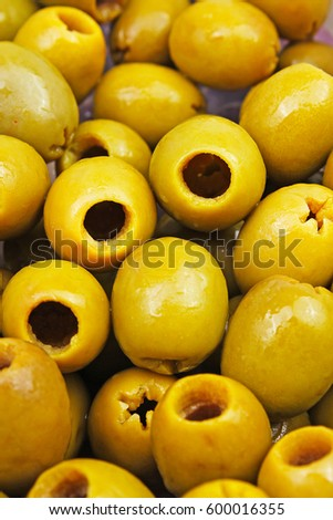 Olive texture. Olives as background.