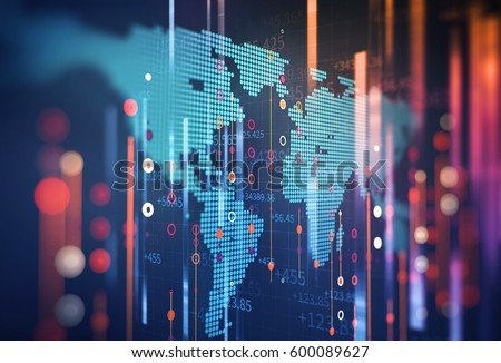 Abstract  Futuristic infographic with Visual data complexity , represent Big data concept, node base programming    #600089627
