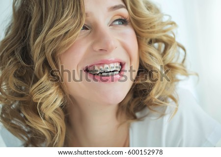 Young woman in braces #600152978