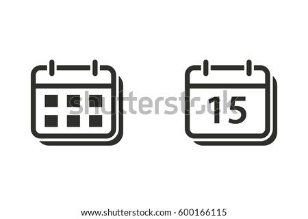 Calendar vector icon. Illustration isolated for graphic and web design. Royalty-Free Stock Photo #600166115